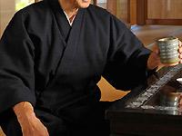 地厚刺子織作務衣(濃紺・黒)